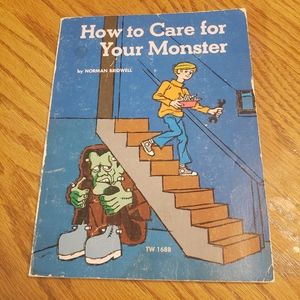 Vintage 1970 How to Care for Your Monster Book